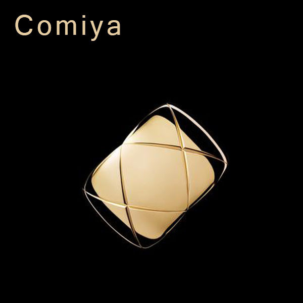 Big Brand C crush New arrival simple design gold imitation diamond shaped bracelet for women bracelets bangles wide open bangle