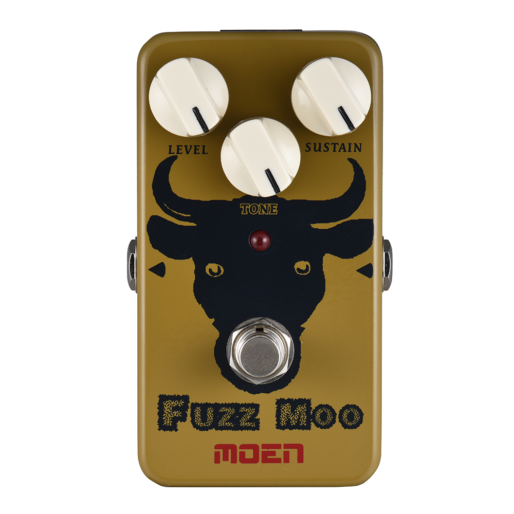 MOEN AM-FM Fuzz Moo Fuzz Guitar Effect Pedal True Bypass Full Metal Shell With TONE knob image
