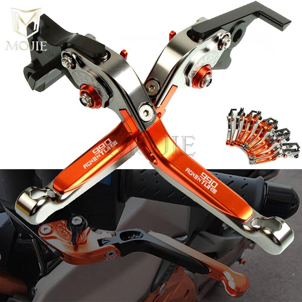 Pour KTM 990 Adventure 2009 levier de moto CNC en aluminium réglable pliant extensible freins embrayage leviers ensemble 990 aventure