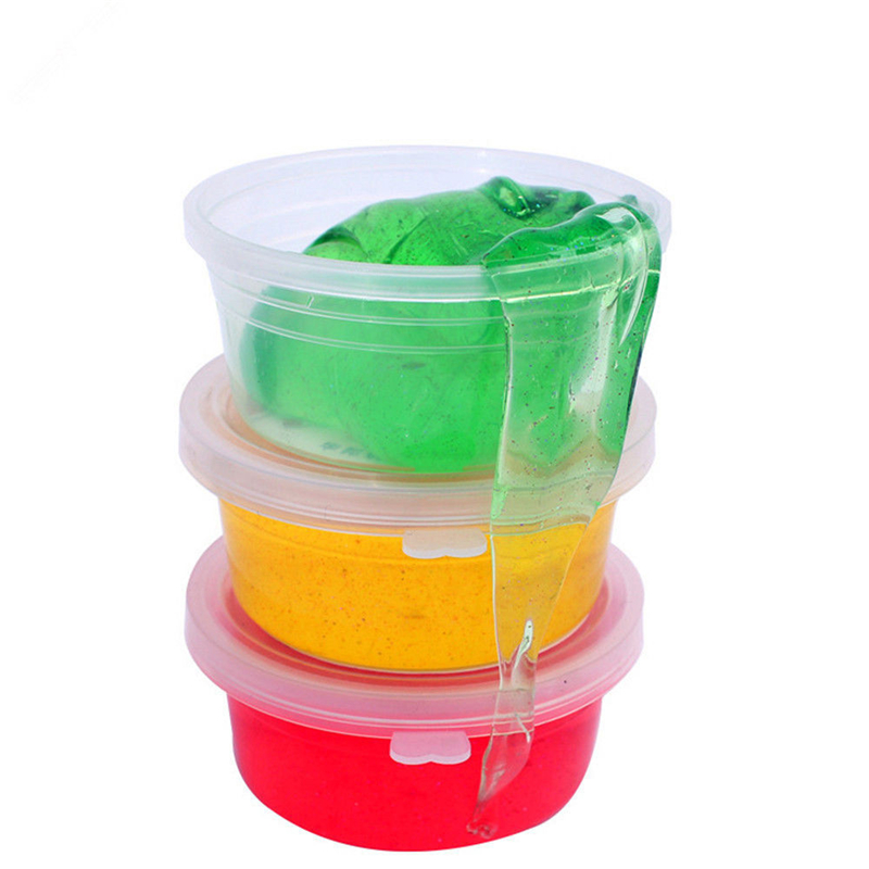 Hot 12color And 1 random color Clay Slime DIY Crystal Mud Play Transparent Magic Plasticine Kid Toys For Children Stress Relief