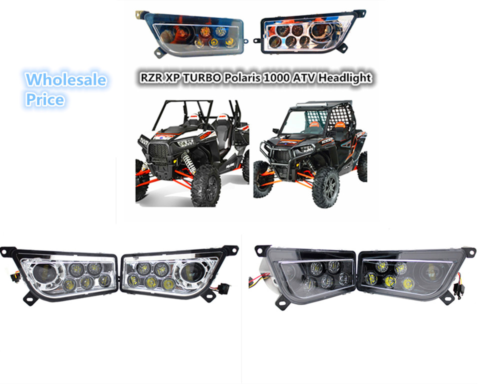 OEM Left & Right Hand LED Headlight Kit 2014-2016 Polaris RZR XP 1000 2015-2016 RZR 900 2016 RZR XP TURBO ATV UTV LED LIGHT LAMP 2pcs oem left