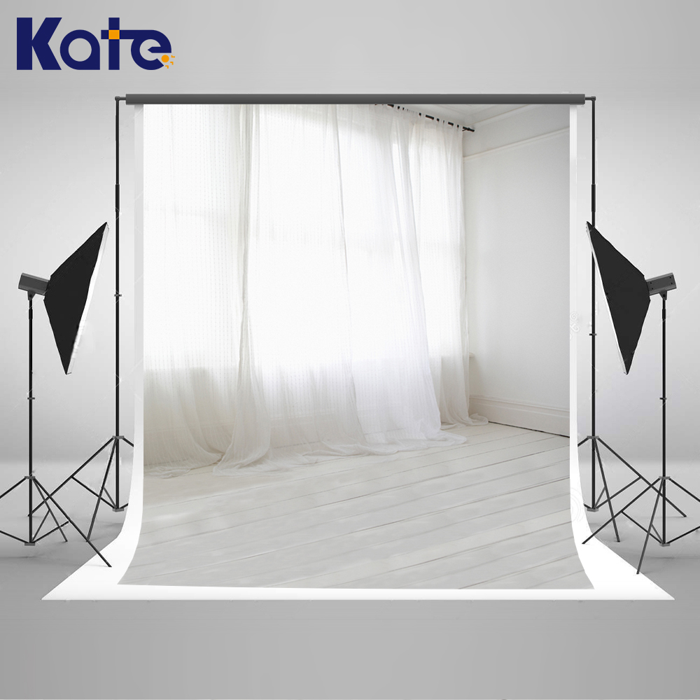 Kate Indoor Wedding Backdrop White Floor and Curtains Photo Custom Large Size Seamless Photo for Photos studio shoot stainless steel portable cauterize querysystem moxibustion box moxa