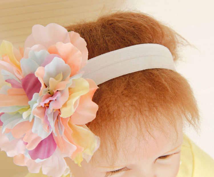 ใหม่สีสันดอกไม้ใหญ่เด็กหญิง Headwear เด็ก Headbands ผมวงยืดหยุ่นผมเด็กอุปกรณ์เสริมผม