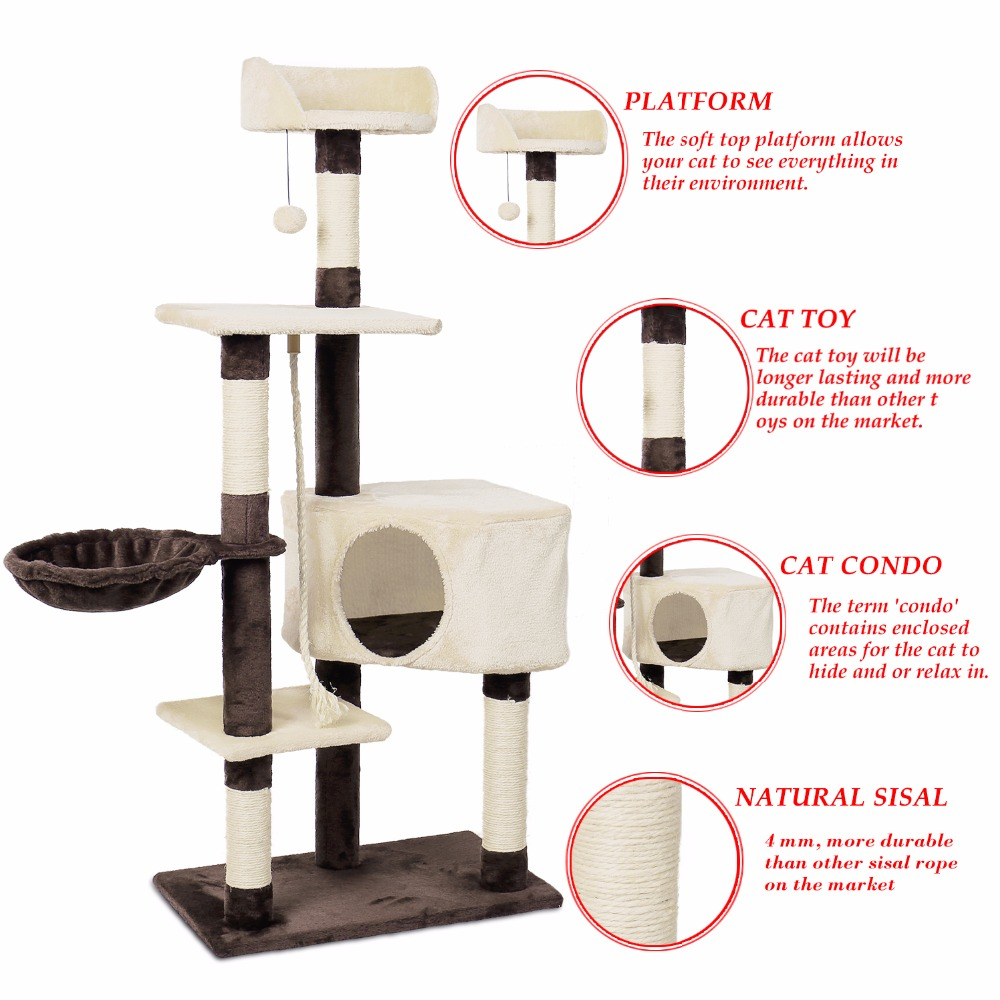 RU Fast Delivery Cat Climbing Tree Tower Condo Scratcher