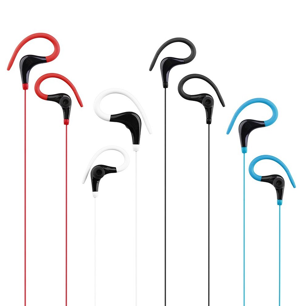 KY-010 Running Stereo Bass Music Headset Plastic Fashion Ear Hook Sports Running Headphones for Mobile Phone 5pcs