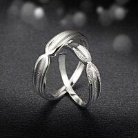 Алмазный 18 К белого золота Обручальные кольца Обручение пара Кольца ручной работы Ювелирные изделия с алмазами