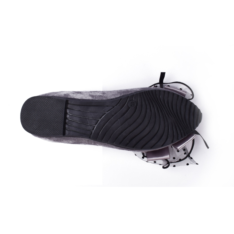 rojo on Mujeres Punta Slip Estudiantes Negro Ballerinas Shallow gris Ladies Casual Moda Bow Zapatos Breathable Planos Estrecha wfrfXaq