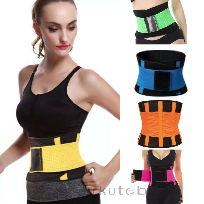 Men Women Sport Shapewear Sweat Belt Waist Cincher Trainer Trimmer Gym Body Underwear Body Building Shaper
