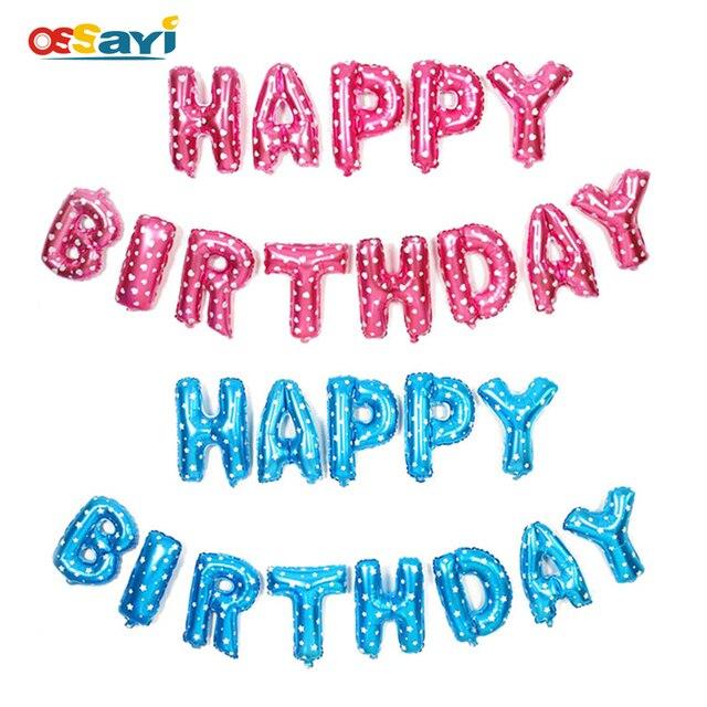 16 pulgadas Feliz cumpleaños foil Globos tamaño grande carta hoja ...