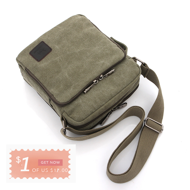 Multi-functional Casual Messenger Bags Men Canvas Leisure Men Shoulder Bags Vintage Small Crossbody Satchel Bag For Men 5