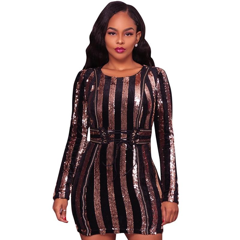 Gold sparkly bodycon dress