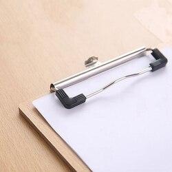 А4 Размер Деревянный планшет клип доска офисные школьные канцелярские принадлежности с подвесная папка с отверстиями для файлов стационар...