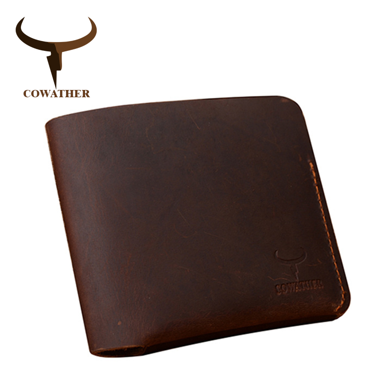 COWATHER Fashion Crazy horse leather wallets for men 2017 cross 100% cow leather male purse 120 carteira masculina free shipping cowather 2017 new men wallet cow genuine leather for men top quality male purse long carteira masculina free shipping r 8122q