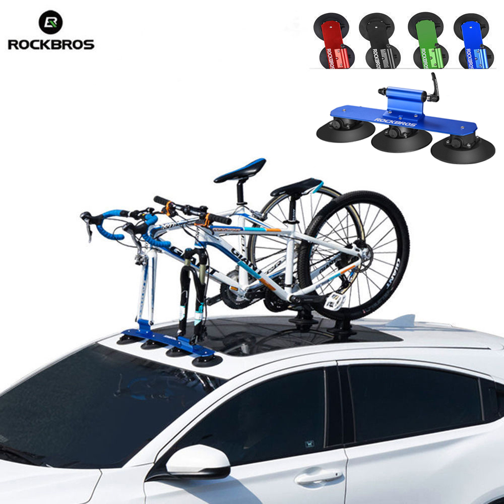 ROCKBROS Bicycle Rack Suction Roof Top MTB Mountain Road Bike Car Racks Carrier Quick Installation Roof