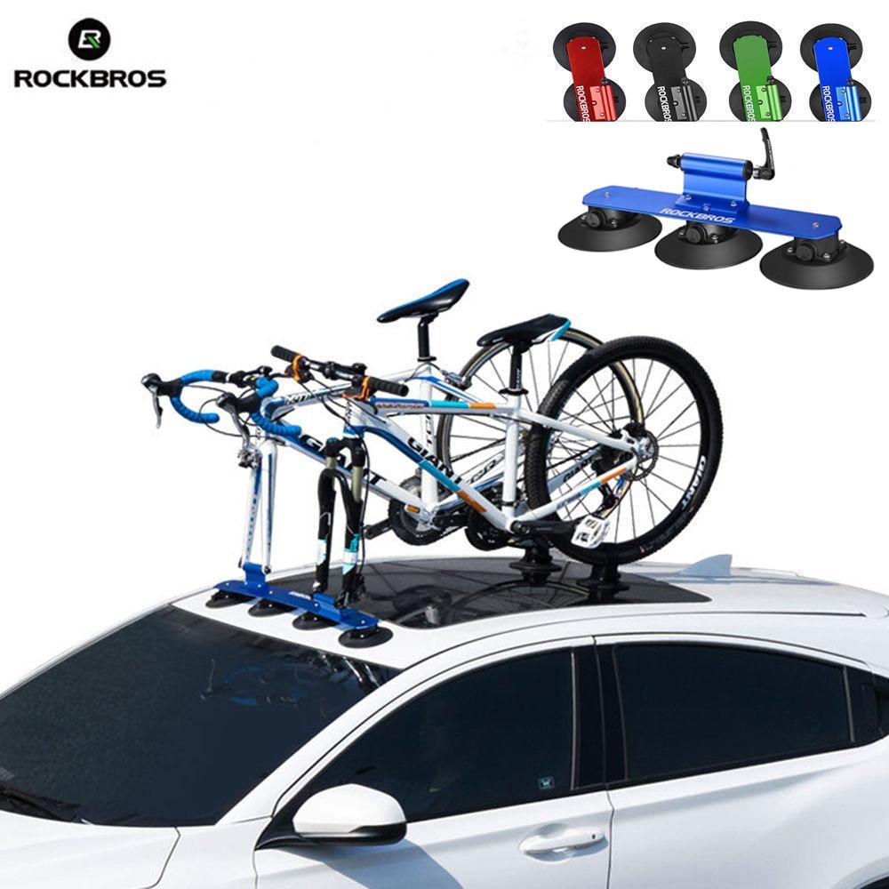 ROCKBROS Vélo Rack Aspiration Toit-Top VTT de Montagne Vélo De Route Voiture Racks Transporteur Rapide Installation Toit Rack à Vélo Accessoire