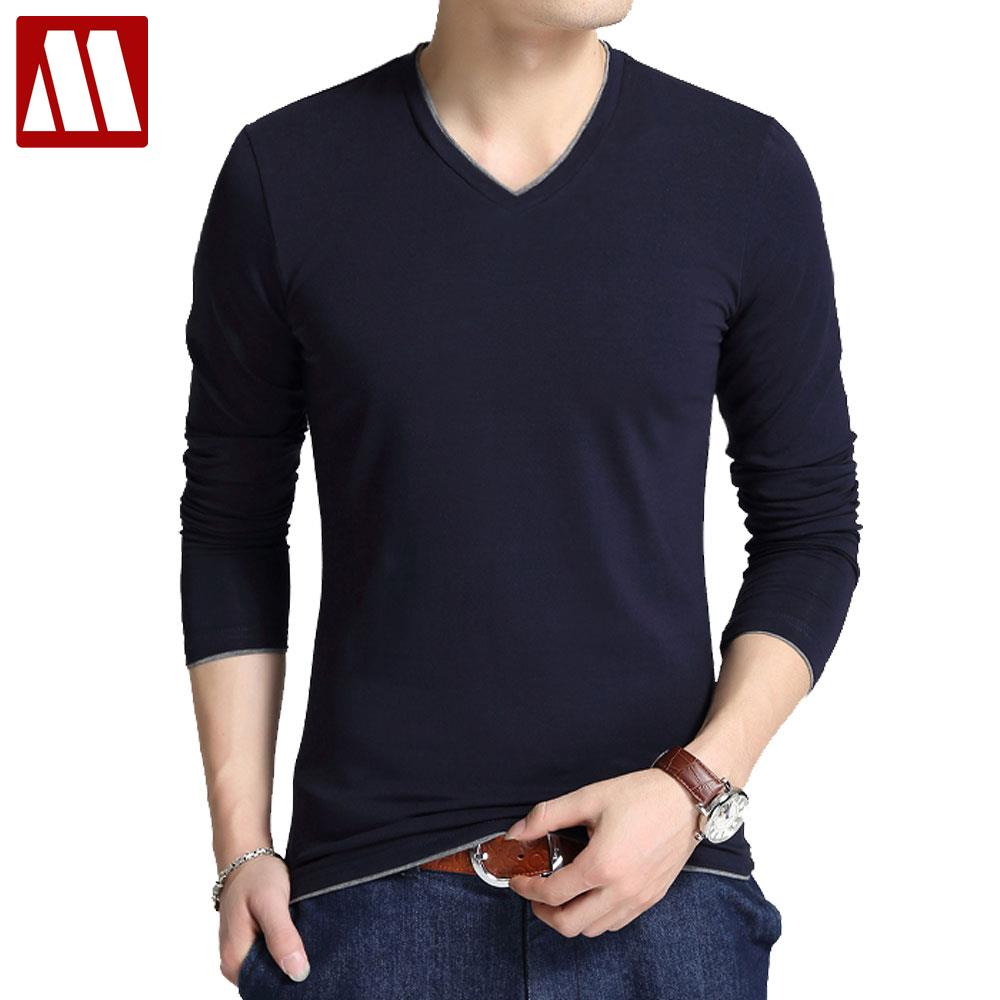 Online Get Cheap Mens Slim Fit Long Sleeve Winter T Shirts ...