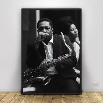 John Coltrane Sanat İpek Posteri Ev Dekor 12x18 16x24 inç
