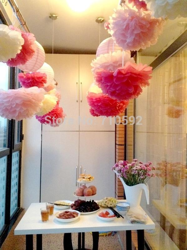 5pcs 20cm tissue paper pom poms wedding party flower balls party getsubject aeproduct mightylinksfo
