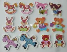 купить WBNSGS Fashionable animal shape sewing buttons for children clothes 200 pieces multicolor DIY crafts decor по цене 536.03 рублей