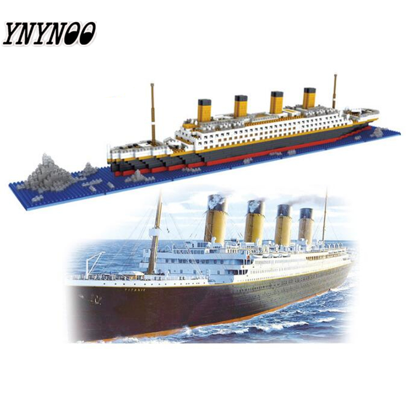 YNYNOO HotLOZ RMS Titanic Ship 3D Building Blocks Toy Titanic Boat 3D Model Educational Gift Toy Not Compatible With legoings