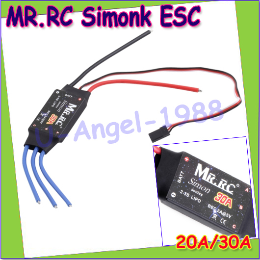 1 piece MR.RC Simonk 20A/30A Brushless ESC Electronic Speed Controller for  Flame Wheel F450 FPV RC Multicopter Quadcopter a2212 1000kv brushless motor 30a esc for multicopter 450 x525 quadcopter