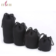 ITSYH Camera Lens Protector BAGS Soft Black Small DSLRDrawstring Pouch Bag Bagpack Case Waterproof Cover 4 Size XL L M S TW-369