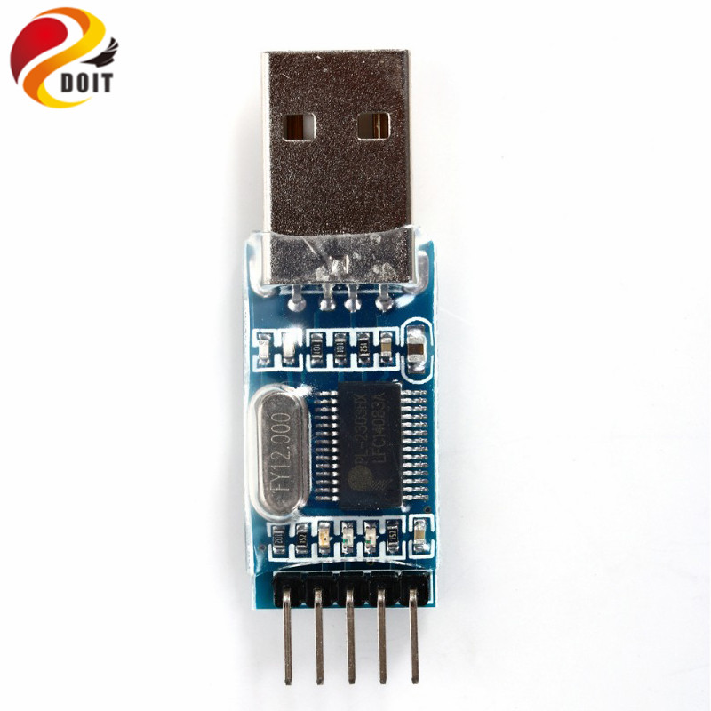 2PCS TTL PL2303HX USB To RS232 Auto Converter Adapter Module For Arduino