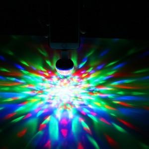 Image 5 - Mini Luz de discoteca USB, luces LED de fiesta, BOLA MÁGICA portátil de cristal, lámpara de escenario de efecto colorido para fiesta en casa, decoración de Karaoke