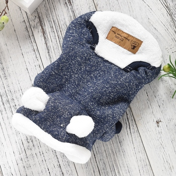 Funny Ears Pitbull Funny Dog Clothing Bling Small Puppy Apparel For Yorki Accessories Cute Winter Warm Thick Pet Hoodie Coat Pug 2