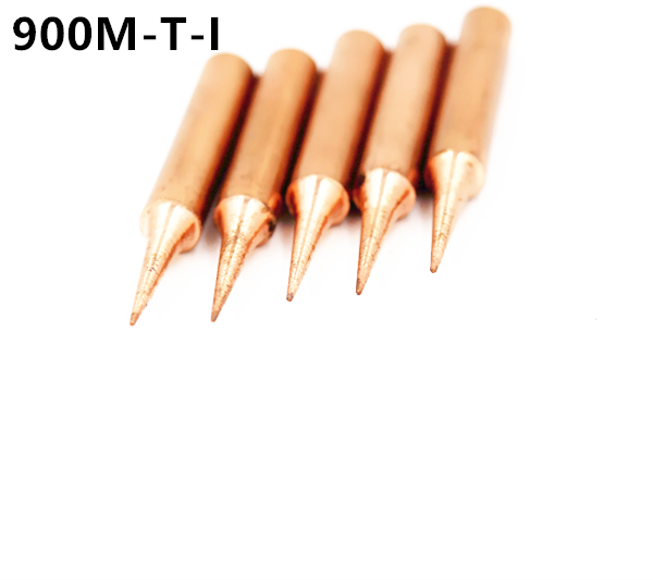 SZBFT 5piece 900M-T-I Lead-free Red Copper Pure Cupper Solder Tip  For Hakko 936 FX-888D Saike 909D 852D+ 952D Diamagnetic DIY