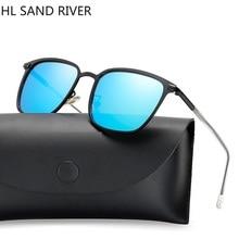 New square polarized sunglasses men boys, tidal current box colorful film driving UV400