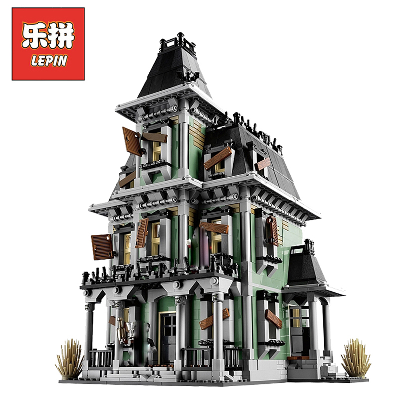 Lepin 16007 2141Pcs Monster Fighters Figures Haunted House Sets Model Building Kits Blocks Bricks Kids Toy Gift Compatible 10228 2141pcs monster fighters haunted house vampyre castle 16007 model building blocks children gifts sets movie compatible with lego