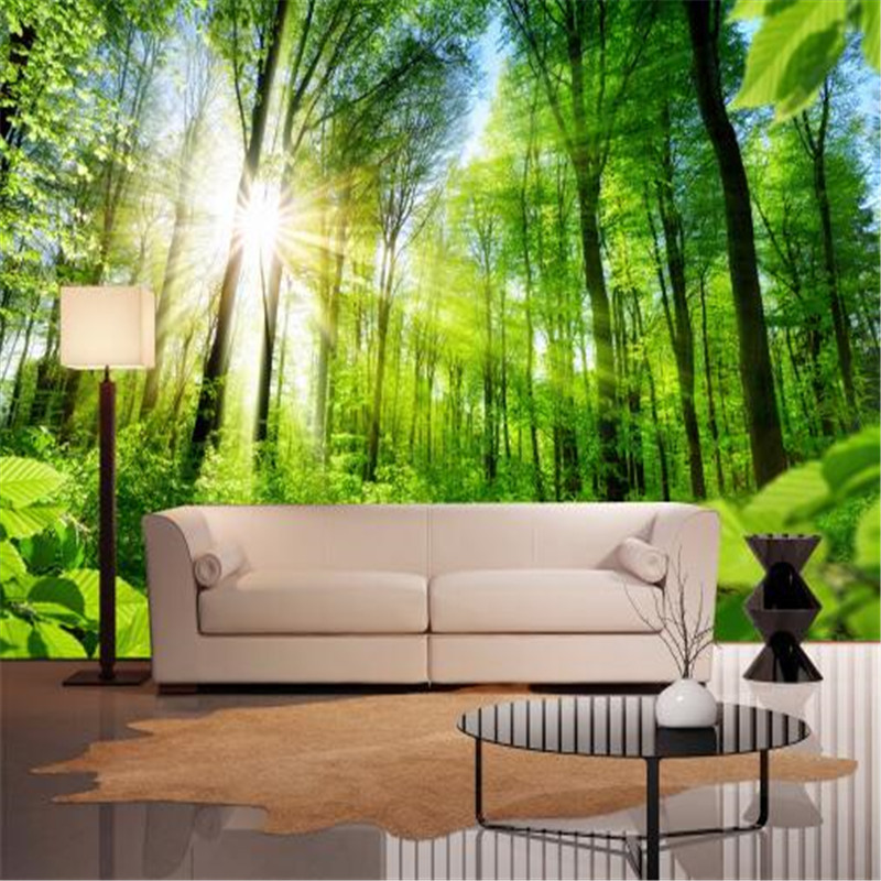 Custom Photo Wallpapers For Wallls 3D Wallpapers Nature Trees 3D Wall Mural For Living Room Home Decor Bedroom Forest Landscape