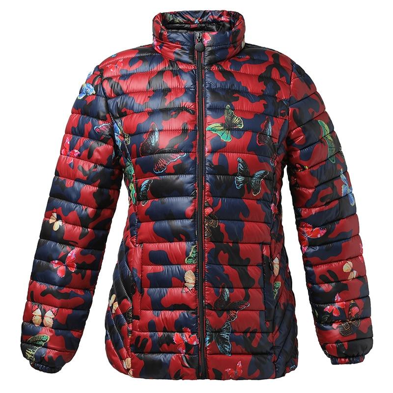 KUYOMENS Winter Parkas Ultra Light Jacket Women Hooded Coat Plus Size 4XL Solid Color Thin Jackets