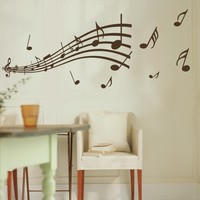 JJRUI Music Notes Band Room Home Removable Wall Stickers Decals Vinyl DIY Decor Art 21 Colour