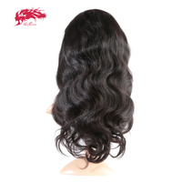 Ali Queen Hair Products Body Wave Virgin Brazilian Hair Natural Color 10~26 130% Density Lace Front Human Hair Wigs