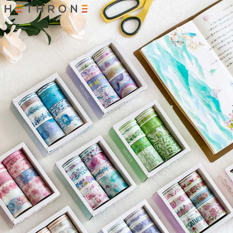 Hethrone 10PCS Fantasy DIY Decoration Washi Tape Set Scrapbooking Masking Tape Handbook Diary Stickers Tape Washitape Washy Tape