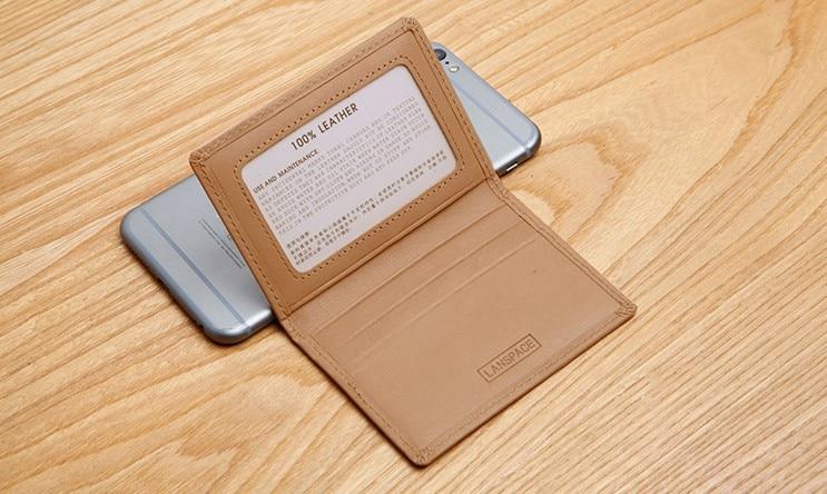 LANSPACE Portatarjetas de cuero titulares de tarjetas de - Monederos y carteras - foto 4