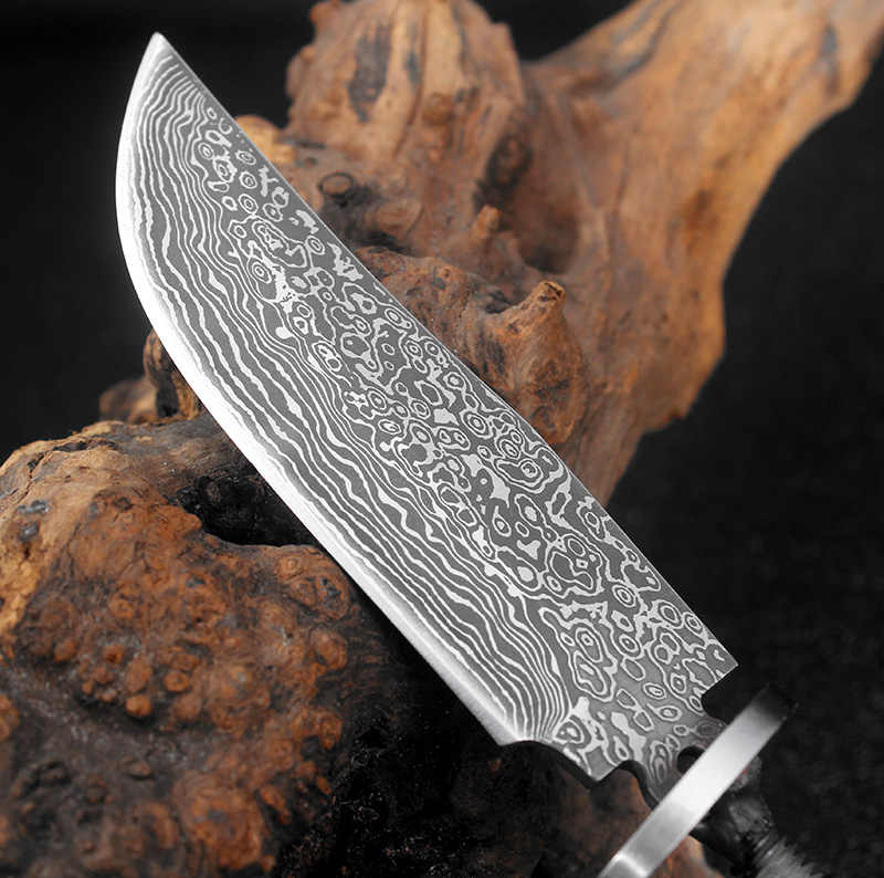 Handmade DIY blade billet High carbon steel Handmade hunting knives blank  Sharp Fixed blade camping survive knife making parts
