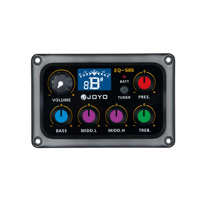 JOYO EQ-505 Digital 5 Band EQ Electric Acoustic Guitar Pickup Pick ups Preamp & Tuner with LCD Display Guitar Accessories joyo eq 307 folk guitarra 5 band eq acoutsic guitar equalizer high sensibility presence adjustable with phase effect and tuner