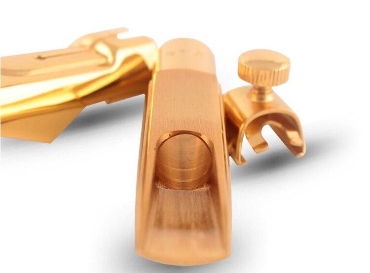 2019 nuevo chapado en oro 24 K Metal boquilla saxofón tenor/Soprano/alto saxofón 5--9 número profesional nave libre