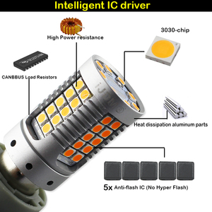 Image 4 - IJDM Canbus لا فرط فلاش العنبر الأصفر 7440 W21W WY21W T20 LED استبدال مصابيح سيارات السيارات الأمامي أو الخلفي بدوره أضواء الإشارة