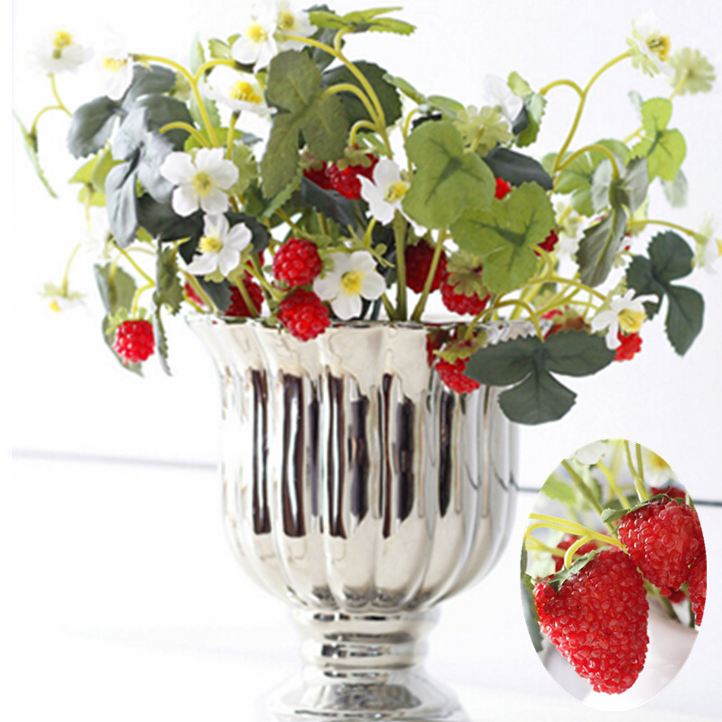 Online get cheap artificial strawberry plants aliexpress for Artificial pears decoration