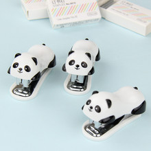 1 PC/Set Cartoon Stapler Cartoon Mini Panda Stapler Set Stationery Paper Binding Binder Book Staple Desig School Office Supplies