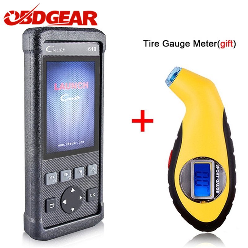 2017 Best OBD 2 OBD2 Autoscanner LAUNCH Creader 619 Support ABS SRS Airbag Auto Diagnostic