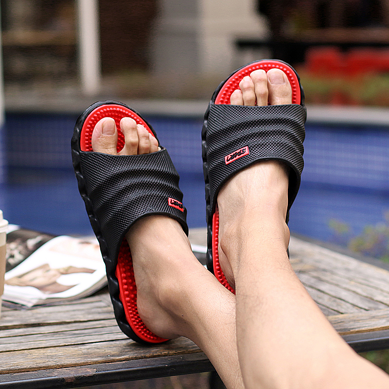 5dd08c517985 Ramialali Summer Slippers Men Casual Sandals Leisure Soft Slides Eva  Massage Beach Slippers Water Shoes Men s Sandals Flip Flop -in Slippers  from Shoes on ...