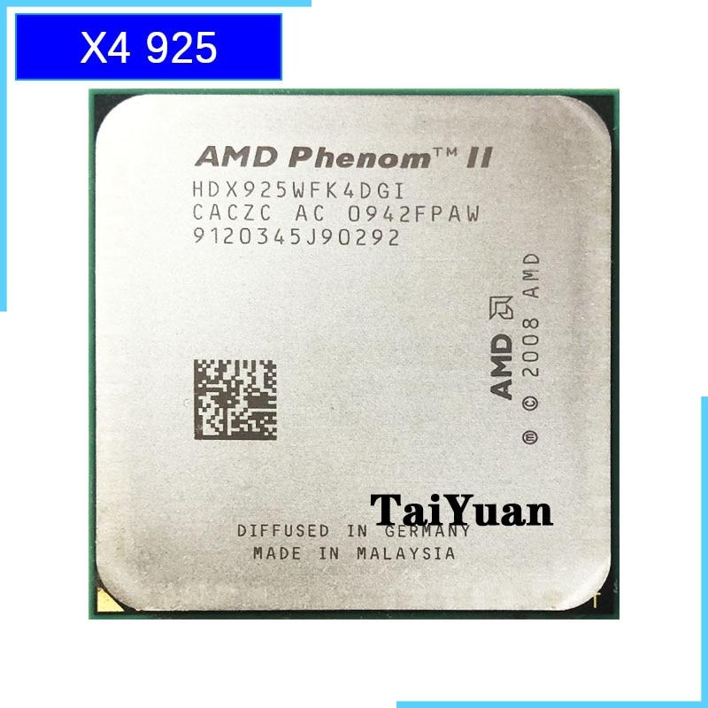 AMD Phenom II X4 925 95W 2.8 GHz Quad-Core CPU Processor HDX925WFK4DGI Socket AM3