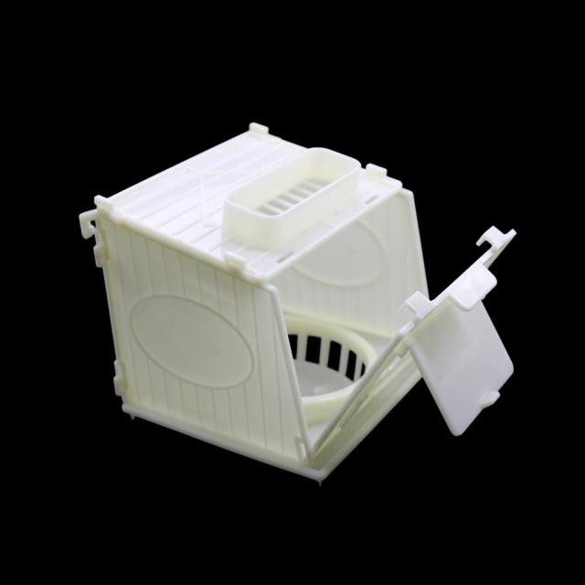 1 Pcs Bird Cage Bird House Parrot Cage White High Quality Plastic Pet Bird's Nest Removable 4