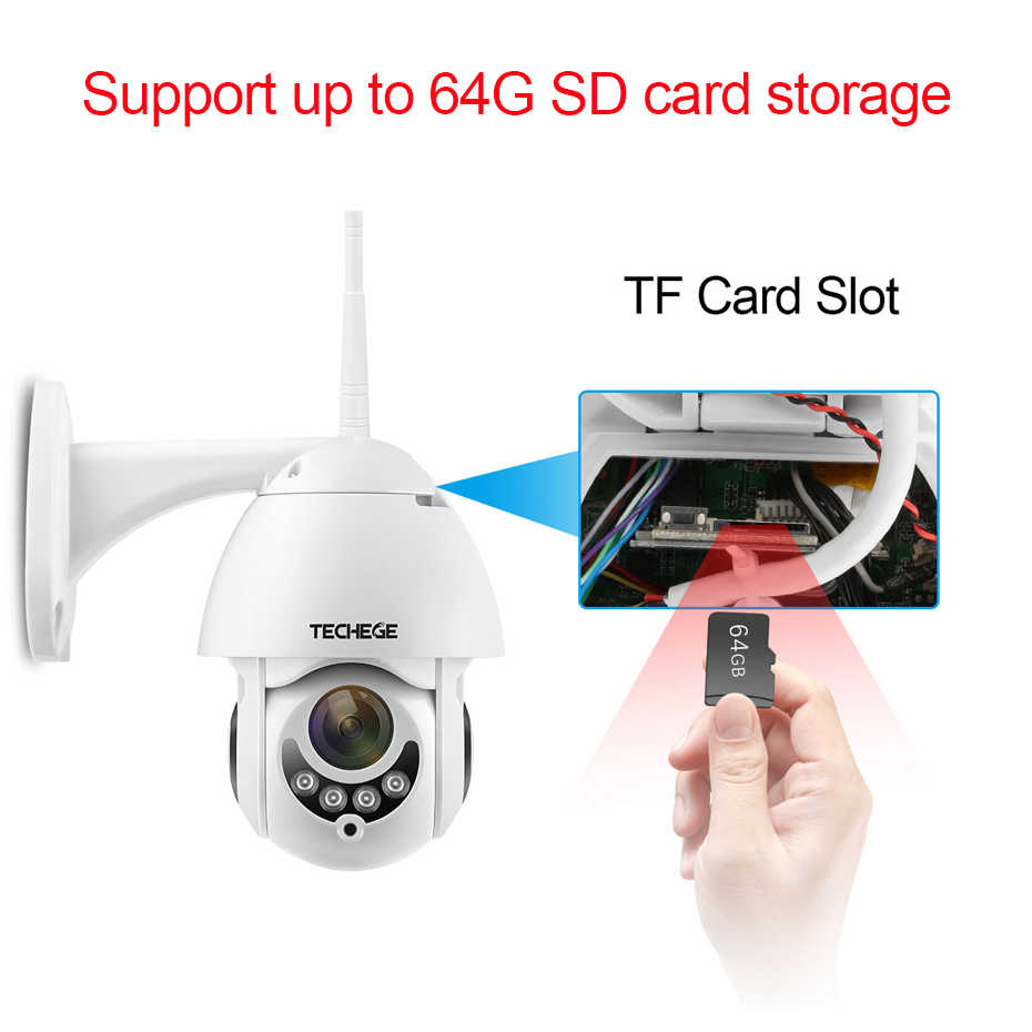 Techege 1080P Wireless IP Camera Pan/Tilt  Two Way Talk 2MP MINI Wifi Security CCTV Camera TF Slot Outdoor indoor Waterproof