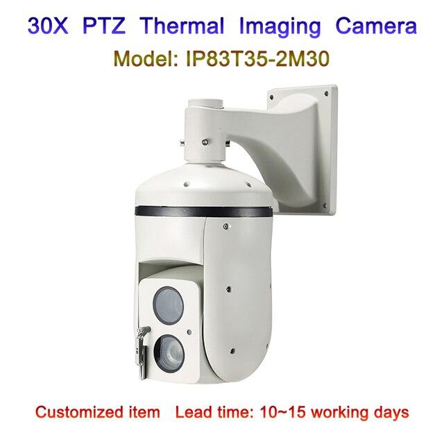 3km long range temperature human vehicle car detection sensor ptz analog thermal imaging camera with 30x visible IP camera